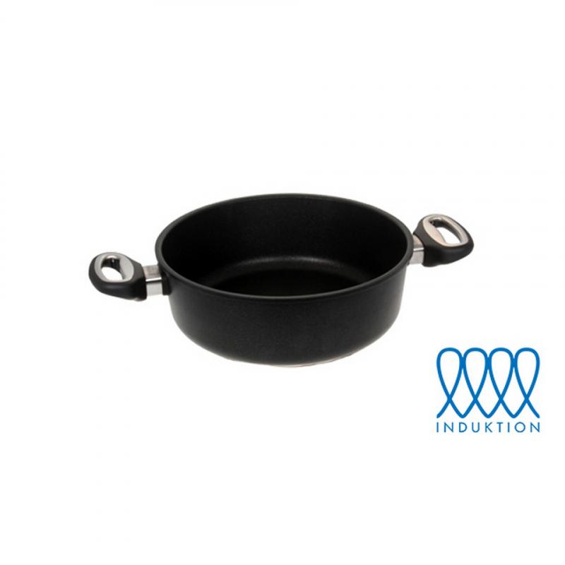 Guss-Bratenkasserolle  Ø 26 cm (für Induktionsherde)