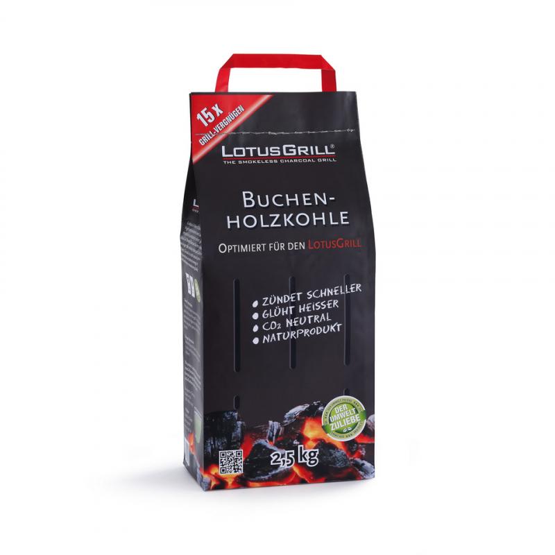 Buchen-Grill-Holzkohle für den LotusGrill® - 2,5 kg