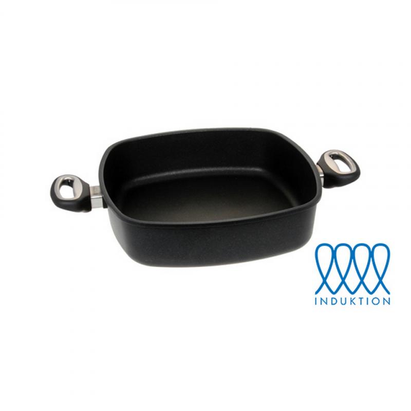Guss-Quadratkasserolle - 25 cm (für Induktionsherde)