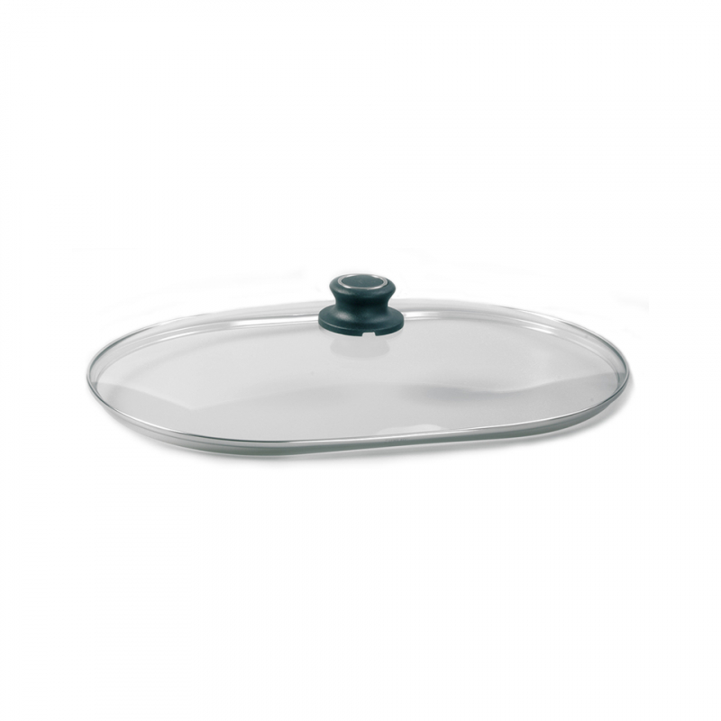 Sicherheits-Glasdeckel - Oval 33 cm
